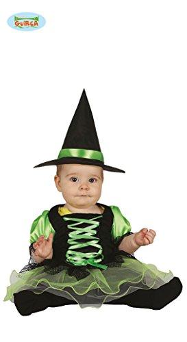 Baby Hexe mit Tüll Kostüm für Kinder Karneval Fasching Halloween Gr. 74/80, Größe:86/92