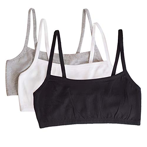 Fruit of the Loom womens Spaghetti strap Pullover Sports Bra 3Pack