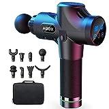 ABOX Pistolet de Massage Musculaire, Masseur de Muscle Profonds avec 30 Niveaux Réglables, 8 Têtes de Massage et Ecran LCD, Ultra Silencieux
