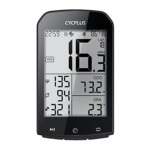 CYCPLUS GPSサイクルコンピューター 自転車スピードメーター 大画面 ワイヤレス SMART・ANT+センサー対応 STRAVAデータ同期 心拍数 高度計 ケイデンス 防水
