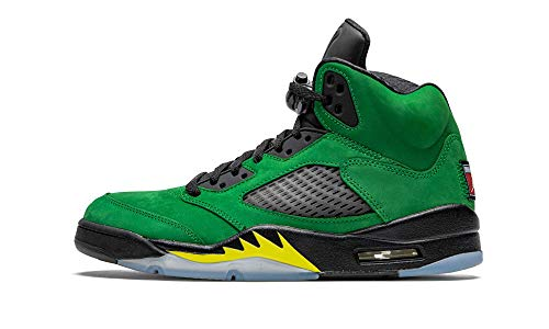 Nike Air Jordan 5 Retro SE, Zapatillas de básquetbol para Hombre, Apple Green Black Black Yellow Strike, 40.5 EU