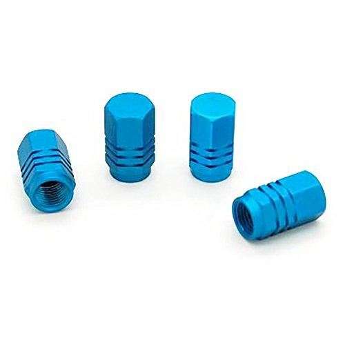 ndier Ventilkappen Reifenventil, Set von 4PCS Ventilkappen für Ventile von Auto Ventilkappen aus Aluminium für Reifen blau