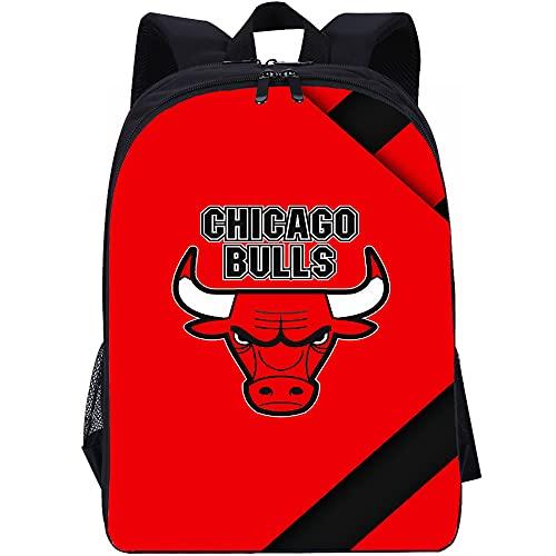 YITUOMO Zaino per bambini Zaino per ragazzi Chicago Bulls Zaino per scuola per bambini Borsa per libri con tasche laterali