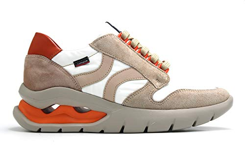 CALLAGHAN - Zapato Deportivo Casual, Sneakers con Cordones, Zapatillas cuña y Plataforma. Fabricado en Piel, para: Mujer Color: Face Talla:37