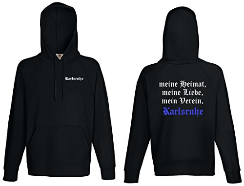 world-of-shirt Herren Kapuzensweat Karlsruhe Ultras Meine Heimat