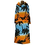 TLS Hooded Poncho oder Wickelhandtuch für Strandwassersport & Surfen - Wechseln Sie Robe Palm Kayak oder Kayaking - Tree - Unisex