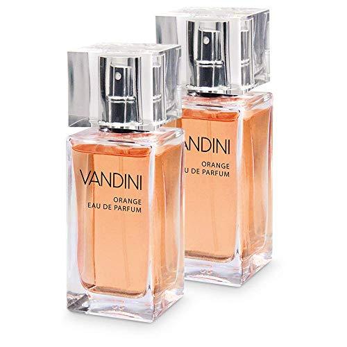 VANDINI Energy Eau de Parfum Damen - Parfüm Damen mit dem Duft von frischer Orange & Zedernholz im 2er Pack (2x 50 ml)