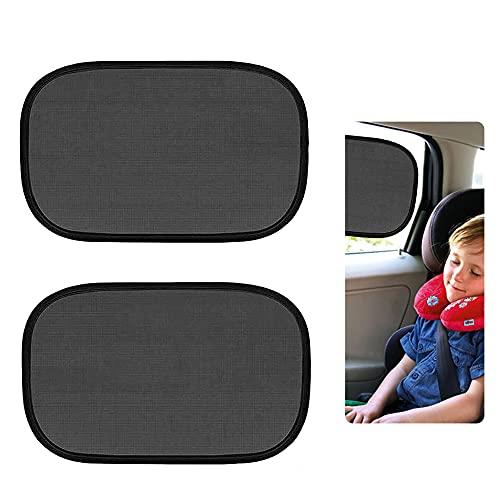 Cyleibe Sonnenschutz Auto Baby, Universelle Auto Sonnenblende für Seitenfenster, Sonnenblende Auto Baby mit UV Schutz, 2 Stück selbsthaftende Sonnenblende Auto Kinder,...