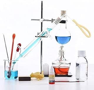 100ml-2000ml New Lab Essential Oil Distillation Apparatus Water Distiller Purifier Glassware Kits w/Separatory Funnel Condenser Pipe Full Sets (100ml)