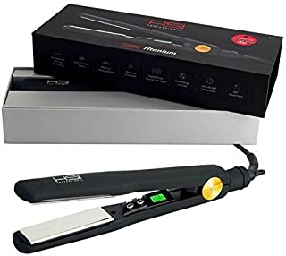 HSI Professional | The Glider Titanium Hairstyling Flat Iron | Tourmaline Ionic Hair Straightener | Straightens & Curls with Adjustable Temp | Incl Glove, Pouch, & Travel Size Argan Oil Hair Treatment