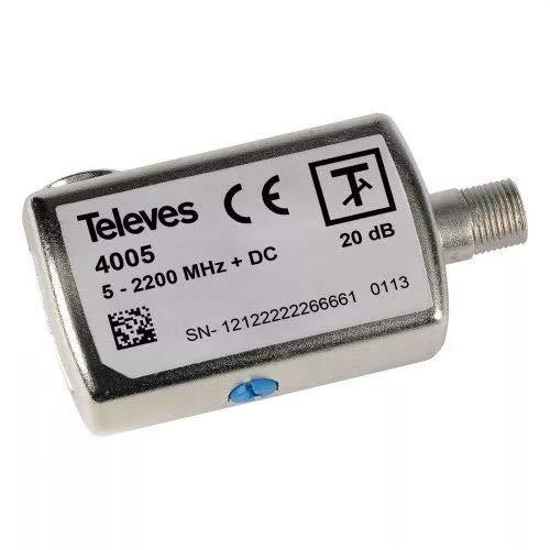 Televes 4005 - Atenuador 0-20db enchufable f 5-2200mhz