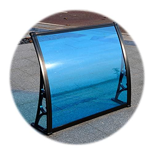 Auvent de Porte Entrée Marquise QIANDA Pluie UV Ombre Neige De Face Porche Abri Toit Couverture avec Alliage D'aluminium Supports (Size : 240cmx60cm)