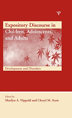 Expository Discourse in Children, Adolescents, and Adults: Development and Disorders (New Directions
