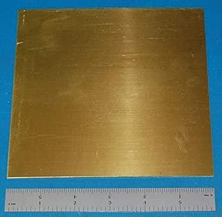 """Brass (Alloy 260) Sheet, 0.040"""" (1.0mm), 6x6"""""""