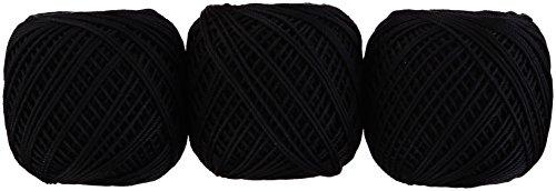 オリムパス製絲 エミーグランデ カラーズ レース糸 合細 col.901 ブラック 系 10g 約44m 3玉セット