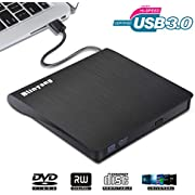 Pop-up Mobile External DVD Drive USB 3.0 - Portable for Laptop Slim Burner Suitable for Compact Disc CD-R/DVD+R/DVD-R/DVD+R DL and Rewritable Disc CD-RW/DVD-RW/DVD+RW