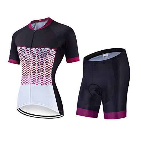 FJLR Ciclismo Ropa Deportiva De Manga Corta Y 9D Gel Pantalones Cortos Transpirable Y De Secado Rápido Verano Deportes Al Aire Libre Traje De Jersey,C,M