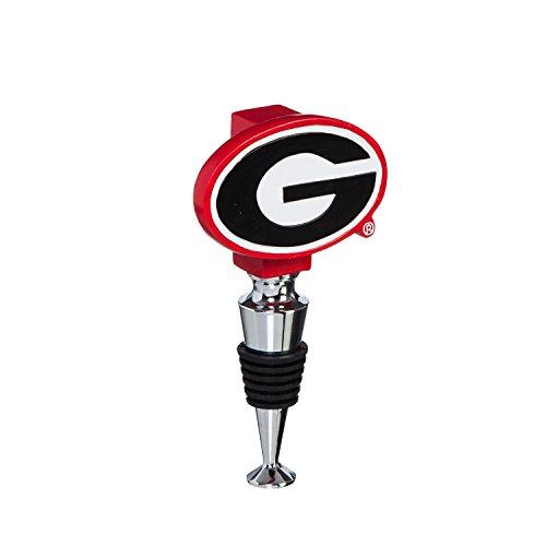 Team Sports America University of Georgia Hand-Painted Team Logo Bottle Stopper