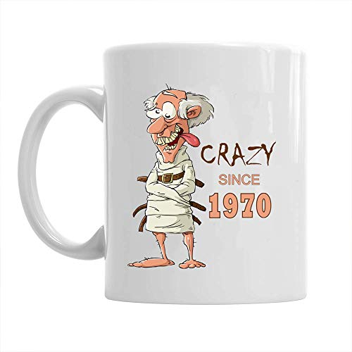 Idea de regalo para 50 cumpleaños para hombres divertido recuerdo para taza de café de 50 años