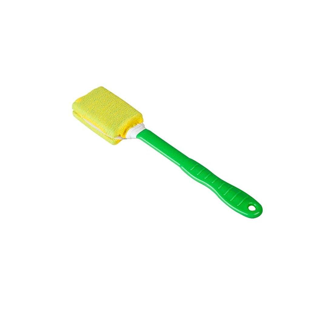 エレガント符号コントローラHEHUIHUI- ボディーブラシ、シャワーロングハンドルブラシ、リアスクラバー HHH (Color : Yellow)