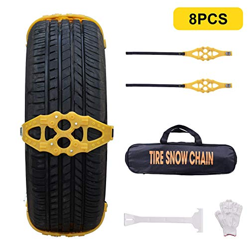 XUXIAKE Universal Snow Chains for Cars -...