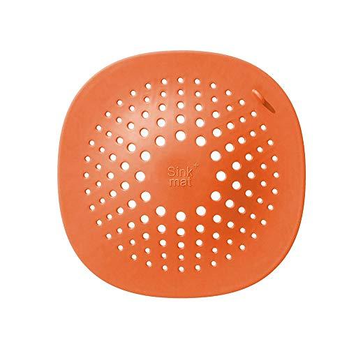 PIJN Bodenablauf Bad Anti-Blockier-Ansaug-Typ Haar Stopper Kanalisation 4PCS Bodenablauf Abdeckfilters (Color : Orange, Size : 14.4x14.4cm)