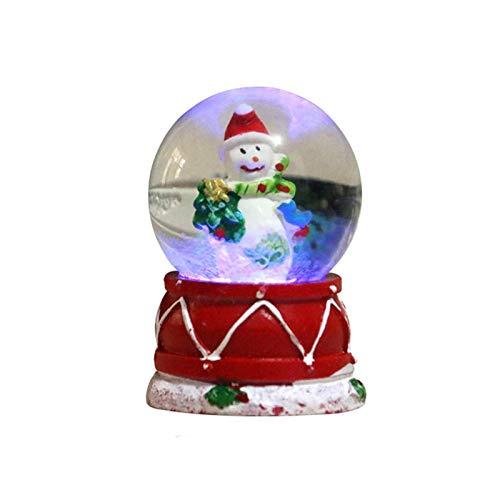 Jilijia 1 Stück Weihnachts-Schneekugel, Glitzer Glas Schneekugel, Harz Kristallkugel-Dekoration, Leuchtende Weihnachts Glitzer Kuppel Für Kinder Geschenk Wohnkultur (zufällig Versandt)