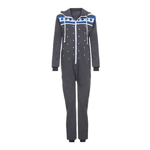 AMUSTER Frauen Jumpsuit (grau, dunkelgrau) - 4