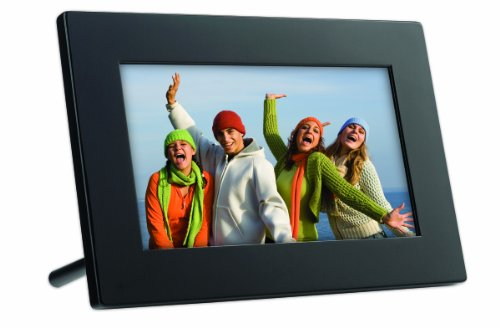 GiiNii GT-7AWP 7-Inch Flatscreen Digital Picture Frame (Piano Black) Camera Digital Features Frames Photo Picture