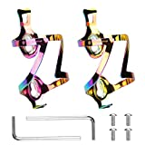 LINGSFIRE 2Pcs portabidon Bicicleta, Aluminio de aleación de Colores botellero...