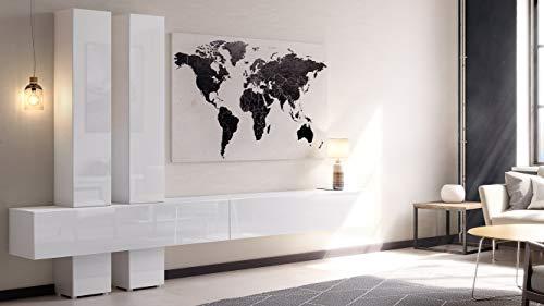 Wohnwand – Vladon  Anbauwand Moja Korpus in Weiß kaufen  Bild 1*