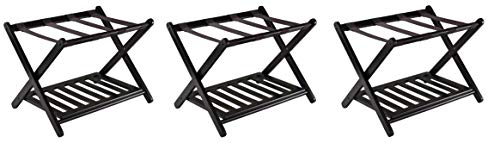 Read About Winsome 92436 Luggage Rack with Shelf (Pack of 3)