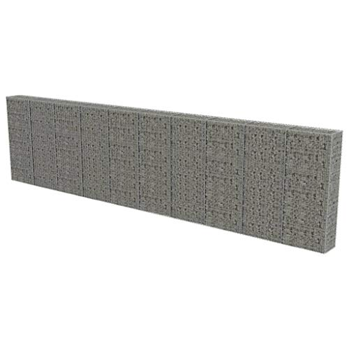 vidaXL Gabionen Wand mit Deckel 600x30x150cm Steingabionen Gabione Steinkorb