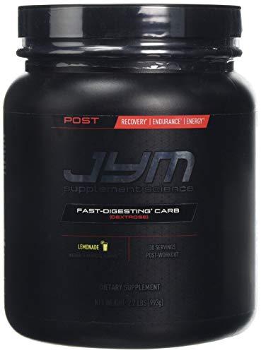 JYM Supplement Science Post Carb Lemonade Powder, Pack of 30