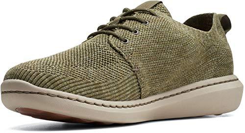 Clarks Men's Step Urban Mix Sneaker, Olive Green Combi, 7