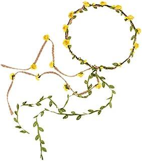 DDazzling Flower Crown Floral Wreath Headband Floral...