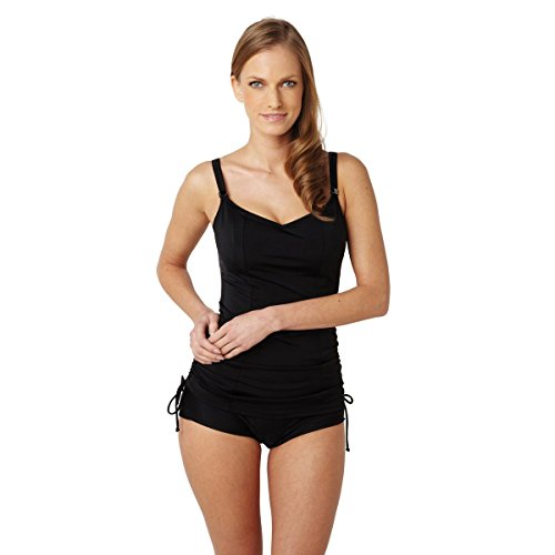 Panache Swim Women's Anya Bra-Sized Balconnet Tankini Top, Black, 34GG