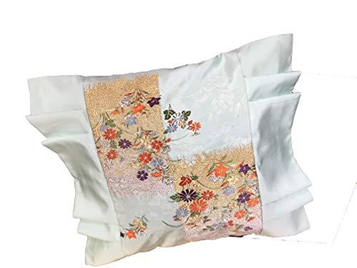 Copricuscino giapponese, in seta, motivo giapponese, bel ricamo, federa decorativa per auto, divano, letto, casa, ufficio, motivo: 7 arbe giapponesi d'autunno