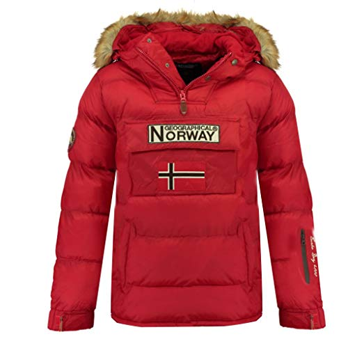 Geographical Norway Boker Herrenjacke, Parka, Rot Small
