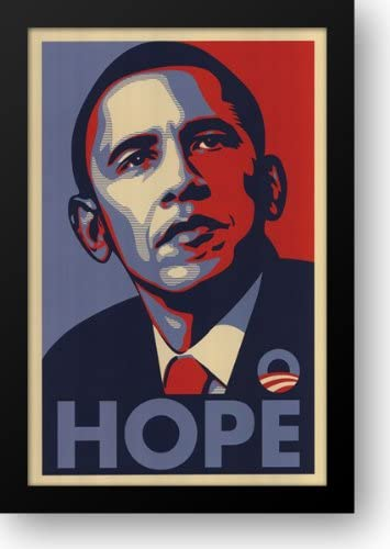 RARE Obama Campaign Poster - HOPE 15x21 Large discharge sale Art by Print Fair Max 40% OFF Framed