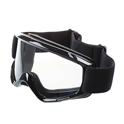 PQZATX 1x Crossbrille Motocrossbrille Schutzbrille Goggle Winddicht Staubdicht Schwarz
