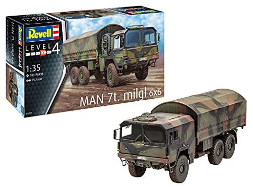 Revell 03291 Man 7t milgl 6x6 originalgetreuer Modellbausatz für Fortgeschrittene, unlackiert