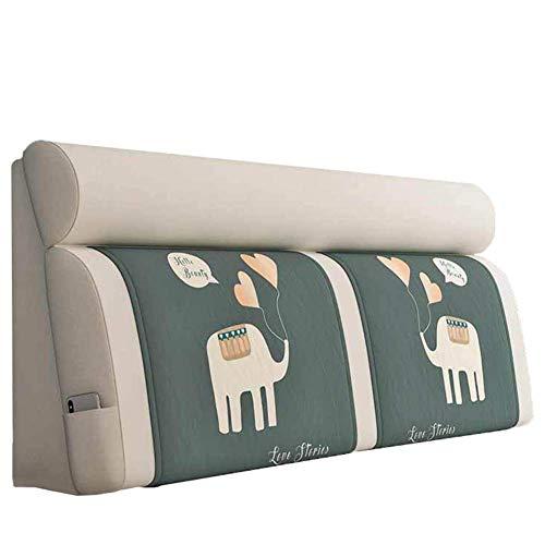 Cojin Cabecero Cabecero Cojines-Backrest Almohada Para El Dormitorio De La Cama Cabecero De La Cama, Soft Pack De Cabecera Nórdica Tela Desmontable Y Lavable Cabecera Cojín,White_b,150*60cm