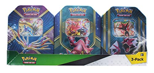 Pokemon TCG: Xerneas EX Pokemon Tin, Fall Battle Heart Tin Volcanion-EX, and Triple Power Tin (Shiny Gyarados)