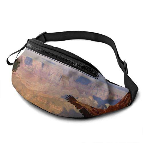 Herren-Taillen-Pack Erstaunliche Ansichten des Grand Canyon Arizona Sport-Taillen-Packs mit Kopfhöreranschluss und verstellbaren Trägern Lustige Taillentasche für Reisesport-Wandern