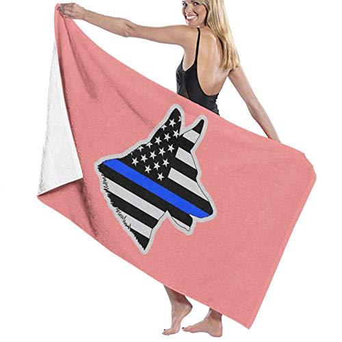 Toalla de baño con bandera americana alemana Shepard K9 de secado rápido, suave, toalla de ducha de playa, 130 x 80 cm