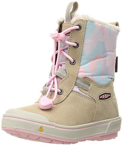 KEEN Mädchen Kelsa Tall Wp Halblange Stiefel, Beige (Plaza Taupe/Pink Blush), 24 EU