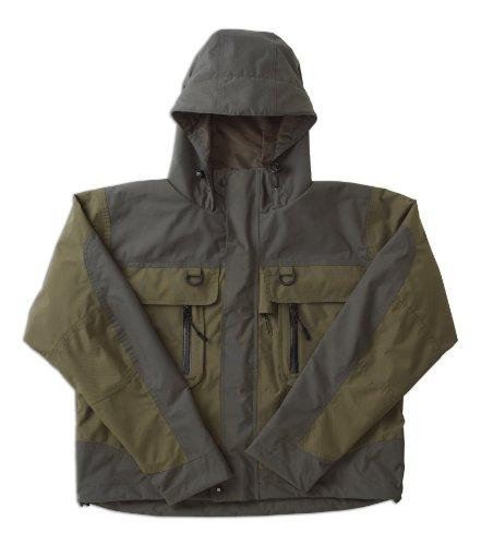 Caddis Men's Green Natural Breathable Wader Jacket, Large