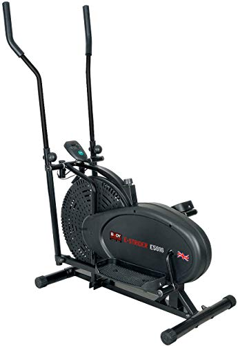 Body Sculpture BE5916 Dual-Action Air Elliptical Cross-Trainer | 12 Months Warranty | Adjustable Air Resistance | Track Your Progress | More, Black
