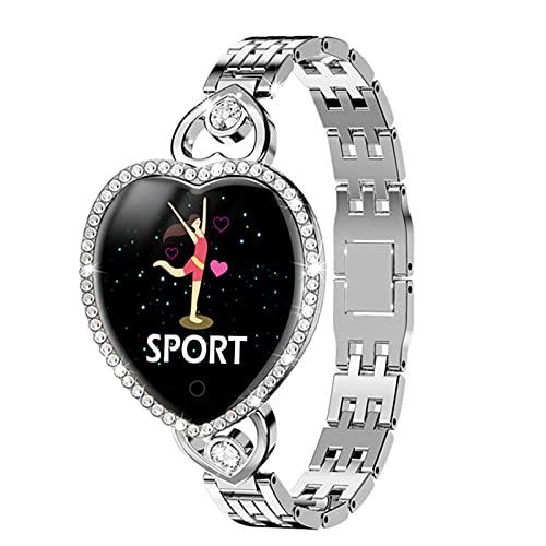YXJ Mujer Smart Watch Pulsera Aptitud Pulsera T52s Reloj Ritmo Cardíaco Seguimiento Monitor,B